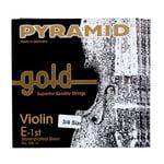 Pyramid Gold Violin Strings 3/4