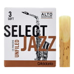 DAddario Woodwinds Select Jazz Unfiled Alto 3S
