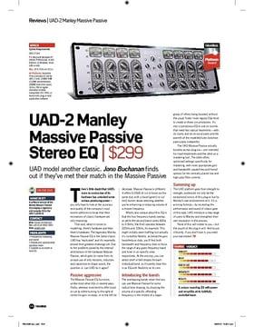 UAD2 Manley Massive Passive Stereo EQ