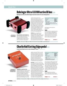 Behringer UltraG GI100 active DI box