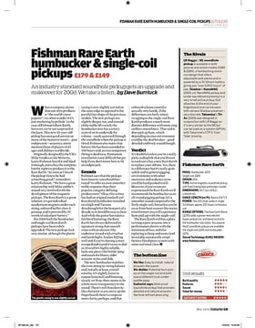 Fishman Rare Earth humbucker and singlecoil pickups