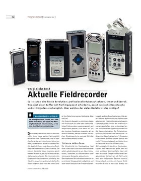 Aktuelle Fieldrecorder