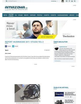Report: Musikmesse 2011 / Studio Teil 2