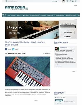 Test: Clavia Nord Lead 4 Keyboard & Rack, Digital Synthesizer