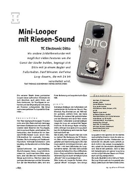 TC Electronic Ditto, Looper
