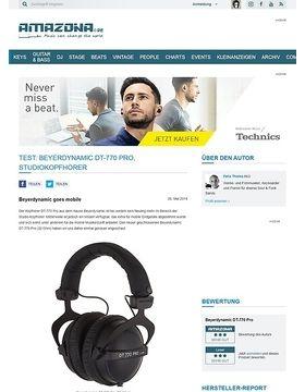 Test: Beyerdynamic DT-770 Pro, Studiokopfhörer