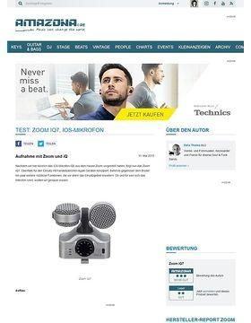Test: Zoom iQ7, iOS-Mikrofon