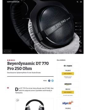 Beyerdynamic DT-770 Pro  250 Ohm