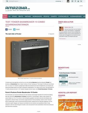 Test: Fender Bassbreaker 15 Combo, Gitarrenverstärker