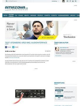 Test: Steinberg UR22 MK2, Audiointerface