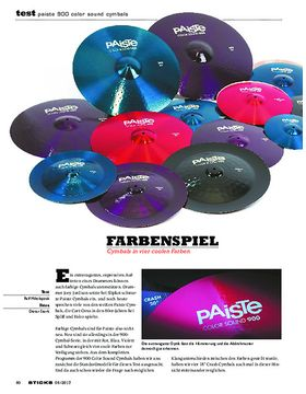 Paiste 900 Color Sound Cymbals