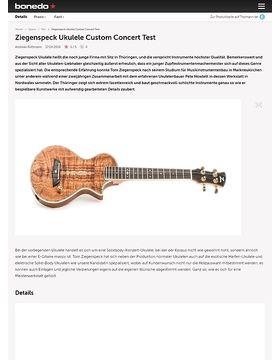 Ziegenspeck Ukulele Custom Concert