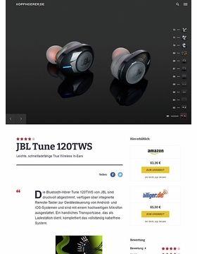 JBL by Harman TUNE 120TWS Black