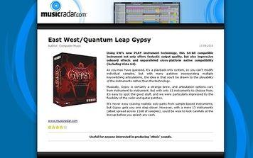 MusicRadar.com East West/Quantum Leap Gypsy