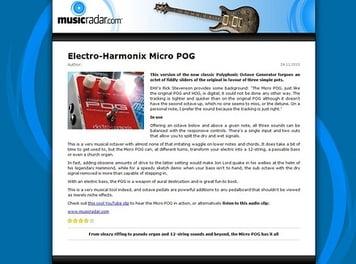 MusicRadar.com Electro-Harmonix Micro POG
