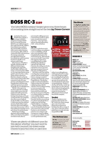 Guitarist Boss RC-3