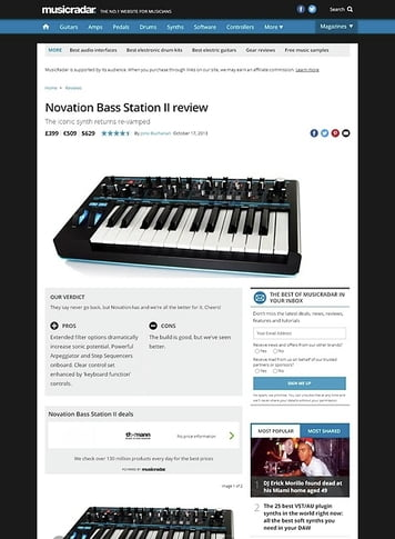 MusicRadar.com Novation Bass Station II