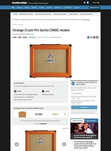 MusicRadar.com Orange Crush Pro Series CR60C