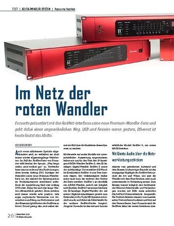 Professional Audio Im Netz der roten Wandler