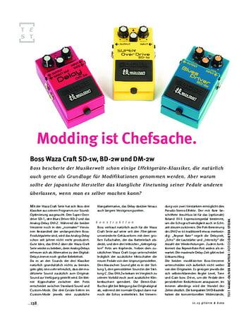 Gitarre & Bass Boss Waza Craft SD-1w, BD-2w und DM-2w, FX-Pedale