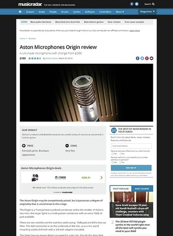 MusicRadar.com Aston Microphones Origin