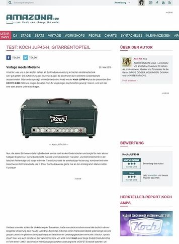 Amazona.de Test: Koch JUP45-H, Gitarrentopteil