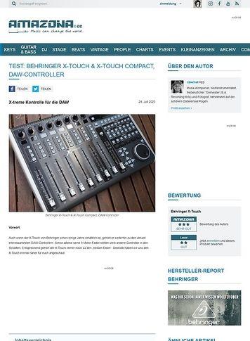 Amazona.de Test: Behringer X-Touch, DAW-Controller
