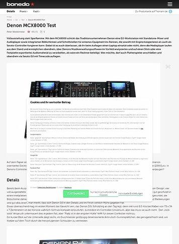Bonedo.de Denon MCX8000 Test