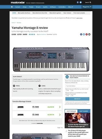 MusicRadar.com Yamaha Montage 8