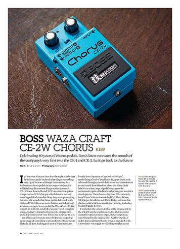 Guitarist Boss Waza Craft CE-2W Chorus