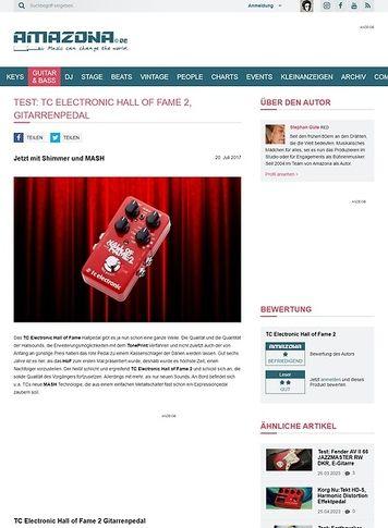 Amazona.de TC Electronic Hall of Fame 2
