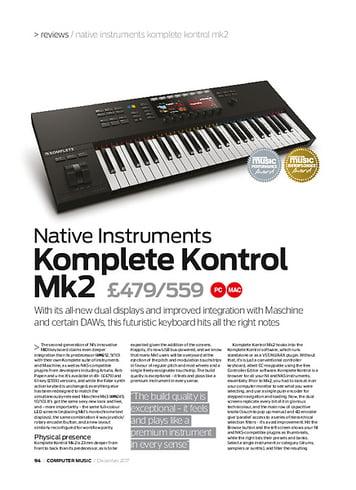 Computer Music Komplete Kontrol mk2