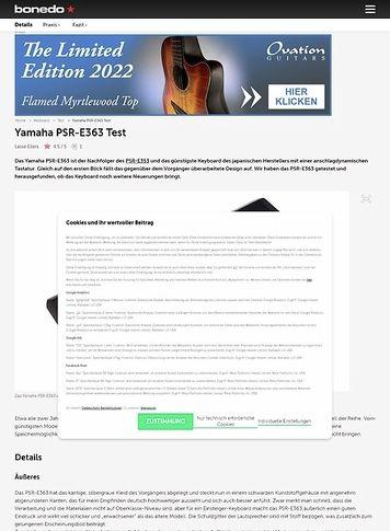 Bonedo.de Yamaha PSR-E363