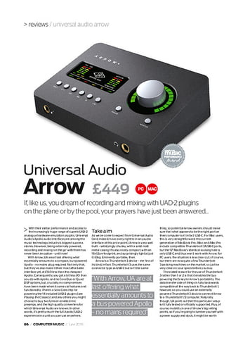 Computer Music Universal Audio Arrow