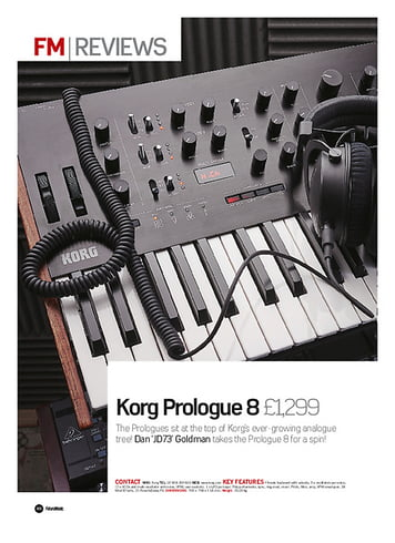 Future Music Korg Prologue 8