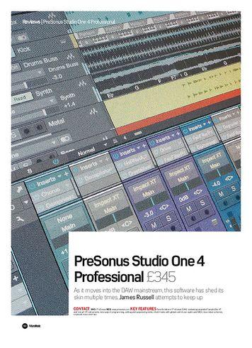 Future Music PreSonus Studio One 4 Professional