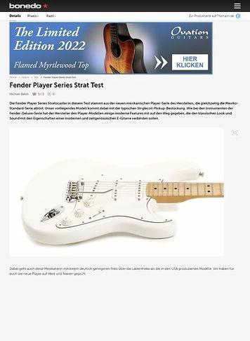 Bonedo.de Fender Player Series Strat