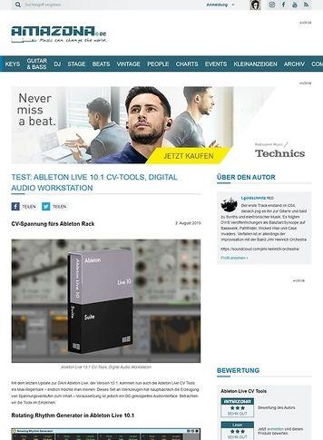 Amazona.de Ableton Live 10.1 CV-Tools